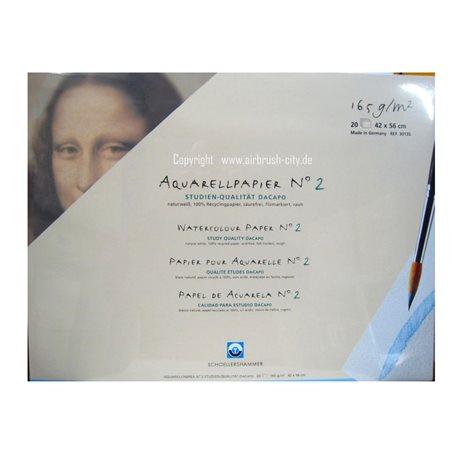 Папка для акварели Da Capo 42*56 165 гр, 20 л
