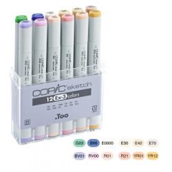 Набор маркеров COPIC sketch EX-3 (12 шт)