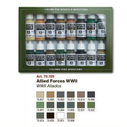 Набор №9 WWII Aliedos 16цв.