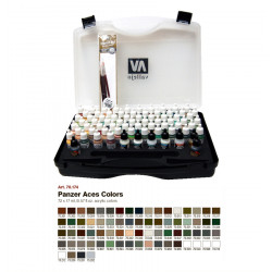 Набор красок Panzer Aces/ 72 цв +кисти в пластиковом чемодане