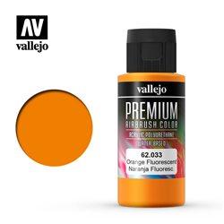 Краска акрил-уретановая Vallejo Premium/ оранжевый флуо
