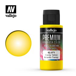 Краска акрил-уретановая Vallejo Premium/ желтый candy