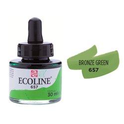 """Жидкая акварель """"ECOLINE"""" 657 Зеленый бронзовый"""