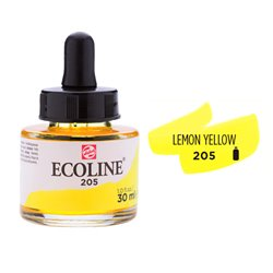 """Жидкая акварель """"ECOLINE"""" 205 Лимонная"""
