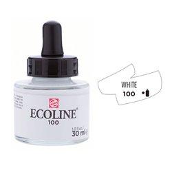 """Жидкая акварель """"ECOLINE"""" 100 Белый покрывной"""