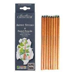 Карандаши пастельные 8 цветов для рисования этюдов