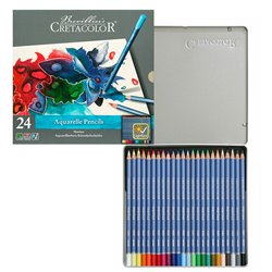 Набор аварельных карандашей MARINO, металлическая коробка, 24 цвета
