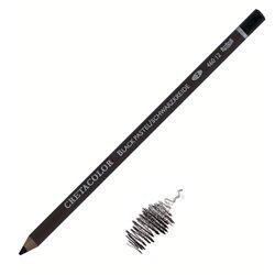 Карандаш Черный мел, круглый корпус диаметром 7,5 мм, диаметр стержня 3,8 мм, твердость 2 (средний)