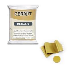 """Полимерный моделин """"Cernit Metallic"""" 56гр. темное золото"""