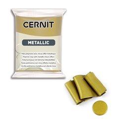"""Полимерный моделин """"Cernit Metallic"""" 56гр. античное золото"""