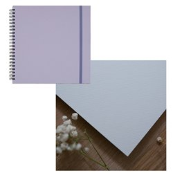Скетчбук 20x20 watercolor серый 25% хлопок