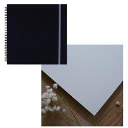Скетчбук 20x20 watercolor черный 25% хлопок