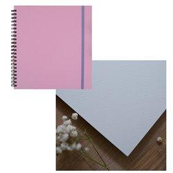 Скетчбук 20x20 watercolor пыльно-розовый 25% хлопок