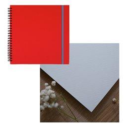 Скетчбук 20x20 watercolor алый 25% хлопок