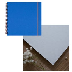 Скетчбук 20x20 watercolor синий 25% хлопок