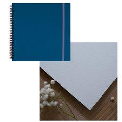 Скетчбук 20x20 watercolor бирюзовый 25% хлопок