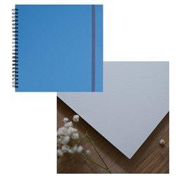 Скетчбук 20x20 watercolor голубой 25% хлопок