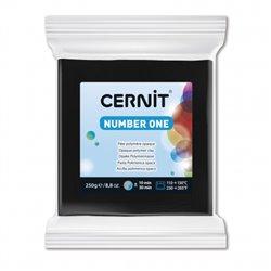 """Полимерный моделин """"Cernit Number One"""" 250 гр./черный 100"""