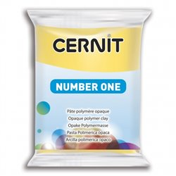 """Полимерный моделин """"Cernit Number One"""" 56гр. желтый 700"""