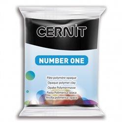 """Полимерный моделин """"Cernit Number One"""" 56гр. черный 100"""