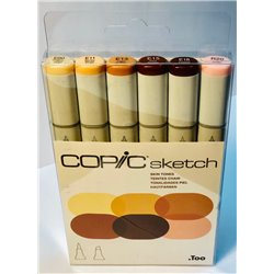 Набор маркеров COPIC sketch Skin Tones (6 цв.)