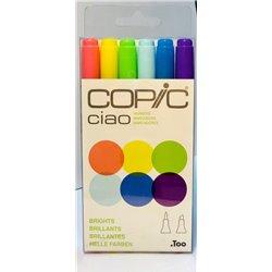 Набор маркеров COPIC CIAO Яркие цвета (6цв)