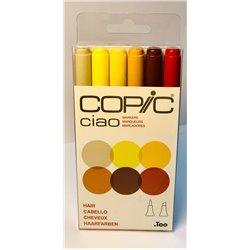 Набор маркеров COPIC CIAO Волосы (6цв)