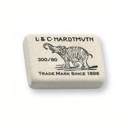 Ластик KOH-I-NOOR ELEPHANT 300/80 каучук 25х20х6 мм белый прямоуг.