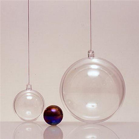 Прозрачный пластиковый шар 80мм
