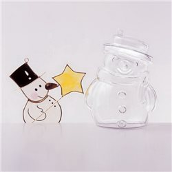 Снеговик пластиковый, 100мм