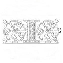 Наклейки Орнаменты- полосы, круговые/Медь