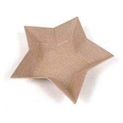 Поднос в форме звездочки/ папье-маше/ 15,5х15х3см