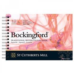 Блок акварельной бумаги на спирали Bockingford HP Spiral 300 г/м, 18х26 см, 12 листов, мелкое зерно