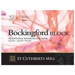 Блок акварельной бумаги Bockingford HP 300 г/м, 13х18 см, 12 листов, мелкое зерно