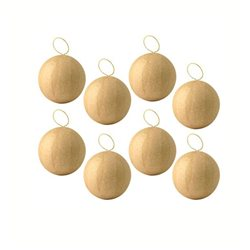 Набор из 8 шаров/ папье-маше/ диаметр 5см