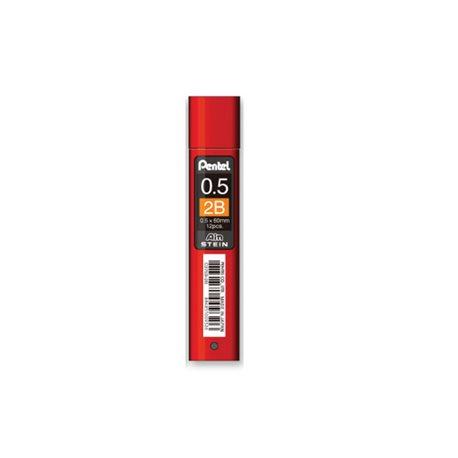 Грифели для карандашей автоматич. Ain Stein 0.5мм. 12шт.2B