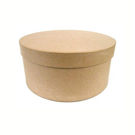 Набор круглых коробок (3 шт) /папье-маше/D-313233 х16см.