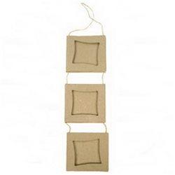 "3 рамки ""квадраты"", на подвесе/ папье-маше/8х29см"