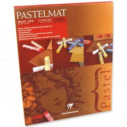 Склейка PASTEL MAT 24х30, 12 л. 4 цв./ пастельн.грунтов. бумага 360 гр