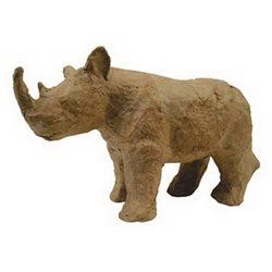 Носорог/ папье-маше/ 11,5х6х4см