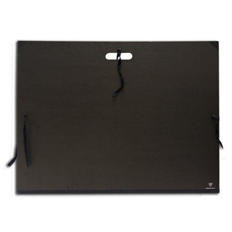Папка для хранения работ 52х72/ картон/ ручка/3 завяз.