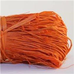 Бечевка из пальмового лыка RAFIA (натур)/ для подарочн. упаковки/Оранжевый