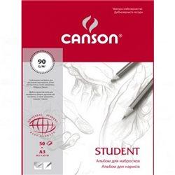 Альбом для набросков Student A3, 90 г/м2, 50 л.