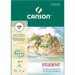 Альбом для рисования Student A3, 160 г/м2, 30 л.