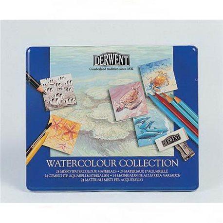 """Набор """"Watercolour Collection"""" /для акварели /24 шт в мет.кор."""