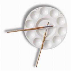 Палитра пластиковая круглая, 10 ячеек, 17,5 см