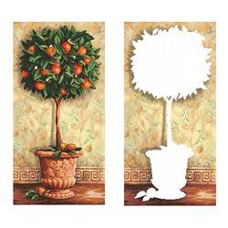 Апельсиновое дерево - мозаичная картина