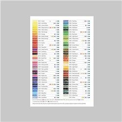 Лефлет Colour Chart Derwent / выкраска