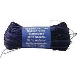 Бечевка из пальмового лыка RAFIA (натур)/ для подарочн. упаковки/Синий