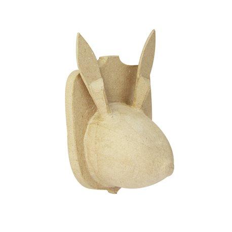 Голова зайца, настенная/ папье-маше/14.5х11х21 см
